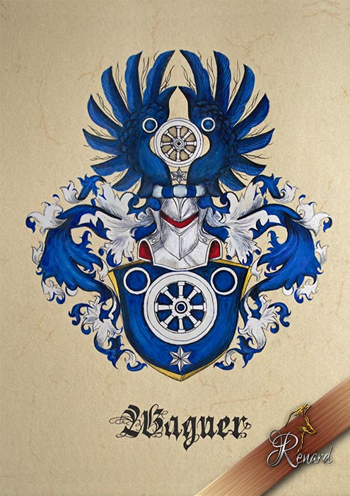 Coat of arms watercolor painting